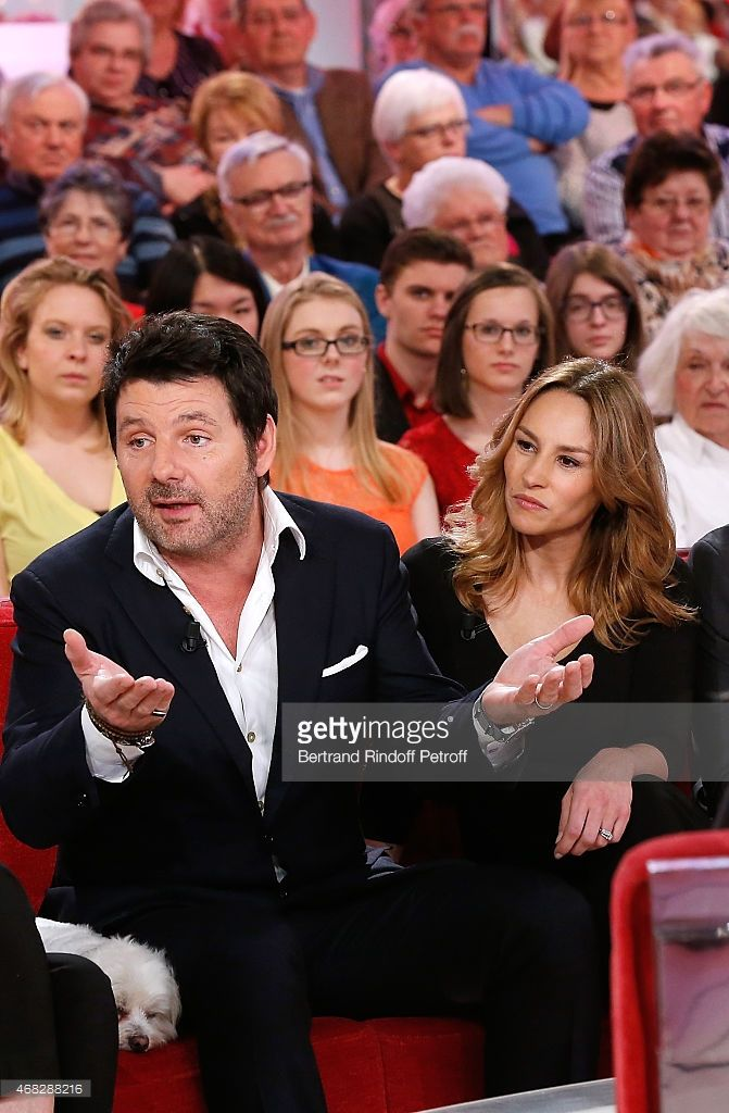 Photo d'actualité : Actors Philippe Lellouche and Vanessa Demouy...