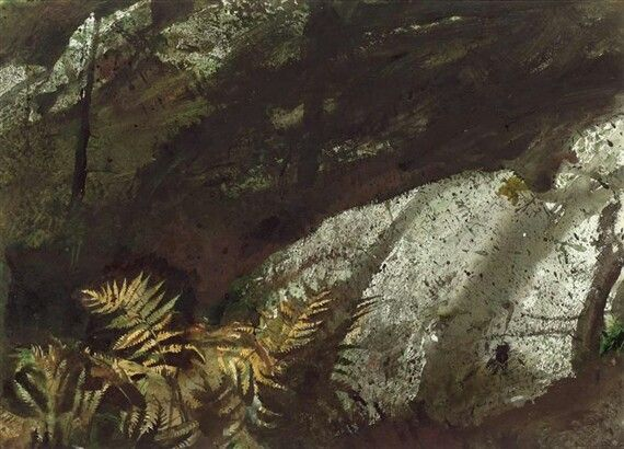 Artworks by Andrew Wyeth DEEP WOODS By Andrew Wyeth