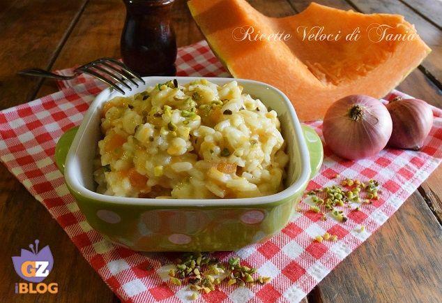 risotto con zucca, pistacchi e timo