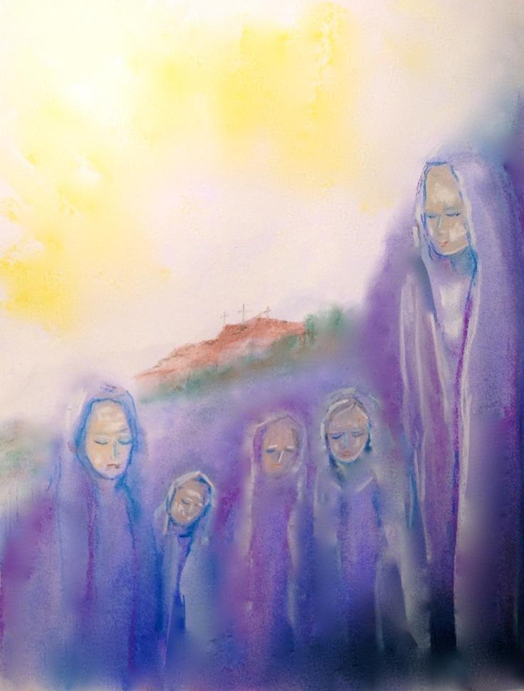 The Women Leaving the Cross