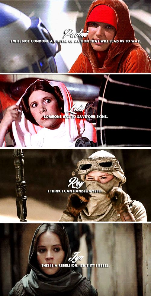 the Ladies of Star Wars + iconic quotes