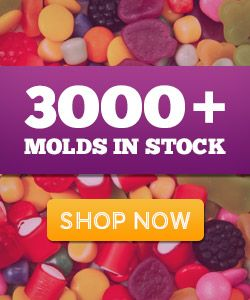 300+ Molds, Lollipop sticks, Candy flavoring, etc. Candy making supplies.