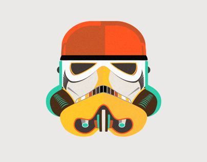 Awesome animation of a Stormtrooper by Ema Rogobete!  #StarWars #Stormtrooper #Animation #Design #Illustration