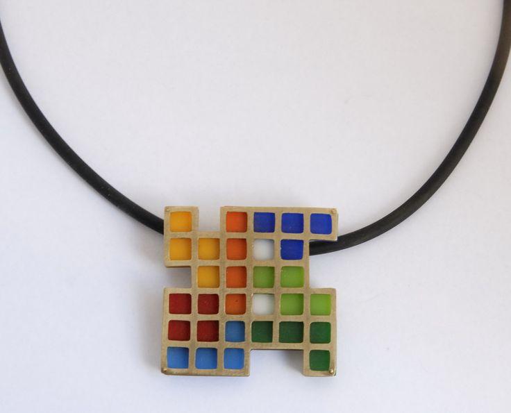 """ Tetris "",bronze,acrylic sheets"