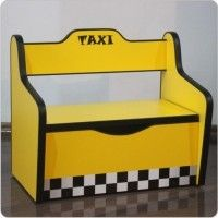Bancuta copii Taxi cu lada depozitare