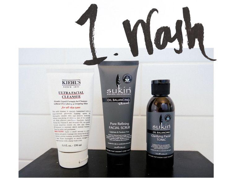 Kiehl's Ultra Facial Cleanser, Sukin Pore Refining Facial Scrub, Sukin Clarifying Facial Toner | Stolen Inspiration