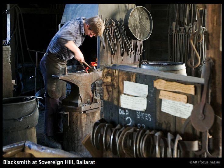 Blacksmith at Sovereign Hill