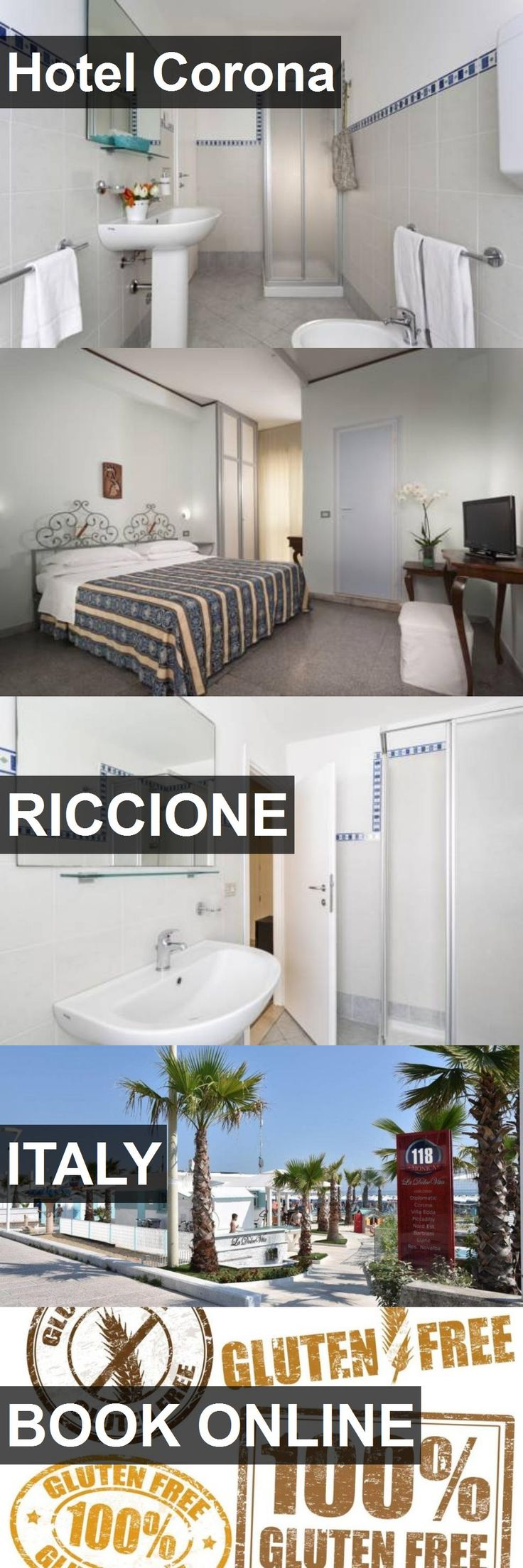Hotel Corona in Riccione, Italy. For more information, photos, reviews and best prices please follow the link. #Italy #Riccione #travel #vacation #hotel