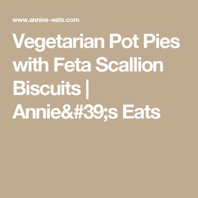 Vegetarian Pot Pies with Feta Scallion Biscuits | Annie's Eats