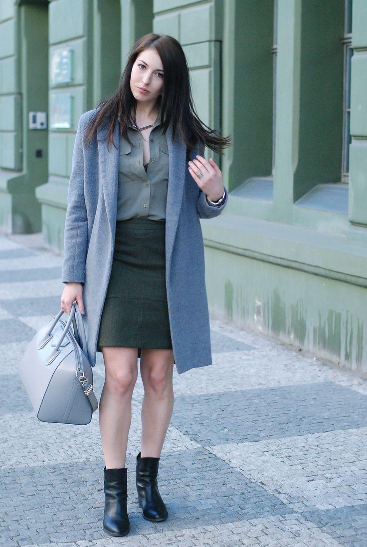 total DIY look (skirt, coat and shirt)
