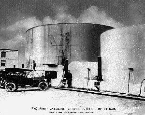 The first gasoline station in Canada opened in June 1907  on Smythe Street, Vancouver