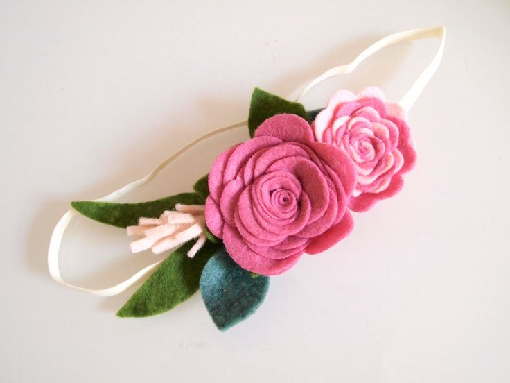 Rose pink Hana flower crown - AW.16 collection/ flower crown/ whimsical/ felt flower headband/ felt flower crown/ birthday crown/ photo prop by kireihandmade on Etsy https://www.etsy.com/listing/286540431/rose-pink-hana-flower-crown-aw16