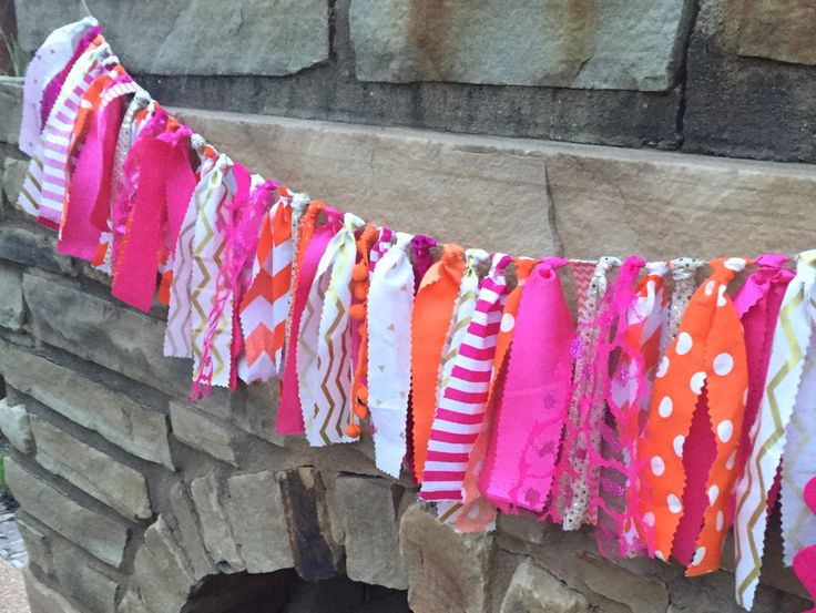 Pink pumpkin banner, Pink and orange banner, Little pumpkin party, Gold orange…