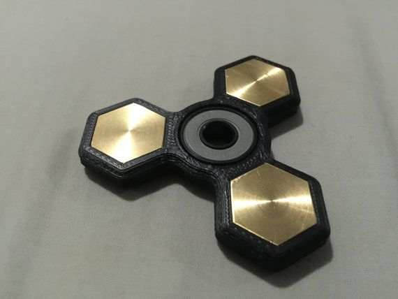 EDC Fidget Spinner 3 Point Hexagon with bearing by G5industries