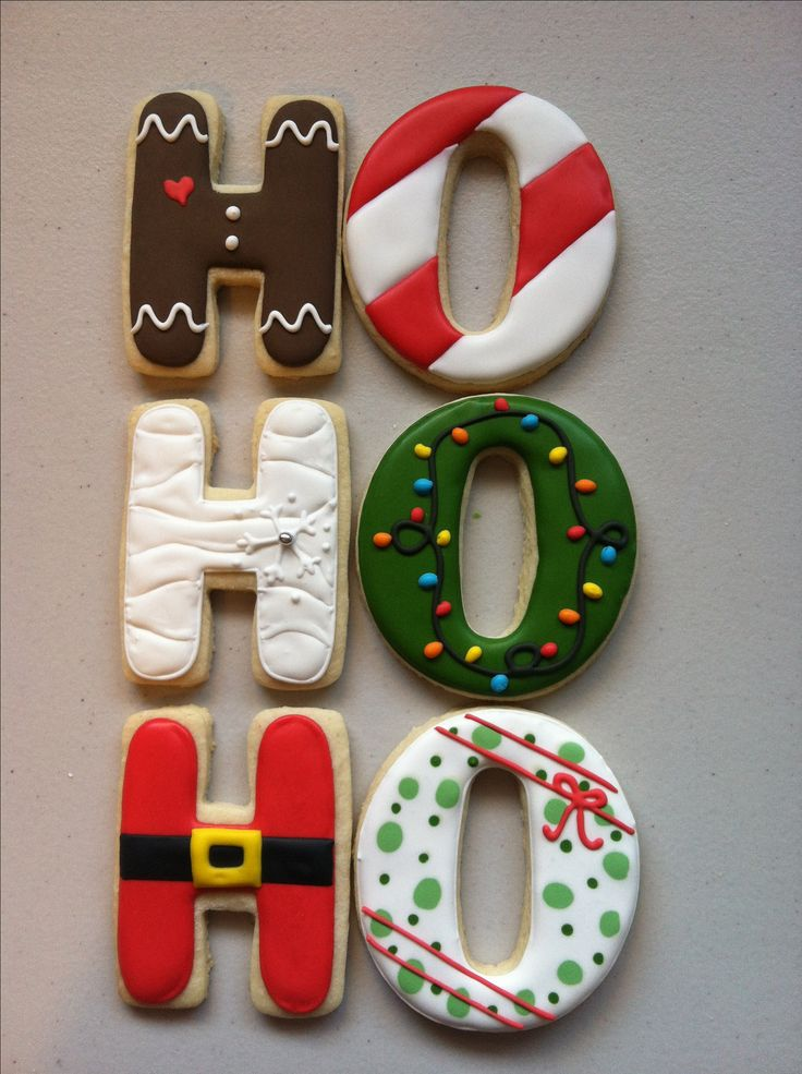 Ho ho ho Christmas cookies #decor_cookies_letters