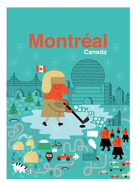 A wonderful Montreal City Poster by Maxime Francout. $16