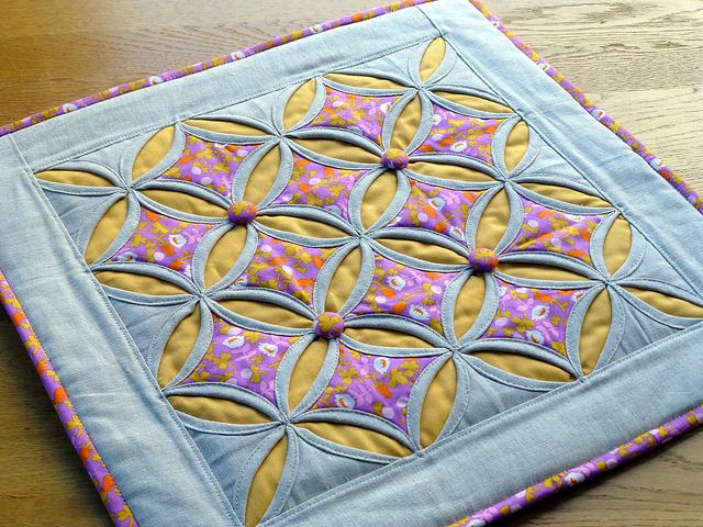 Cathedral Windows Cushion | by Just Jude Designs