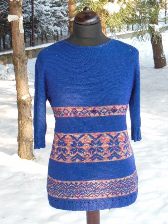 Sweterek - alpaka z jedwabiem