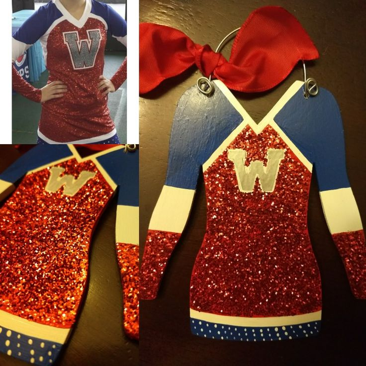 Cheerleader Uniform Christmas Ornament by My Latest Project by Liz .... You can find me on Instagram