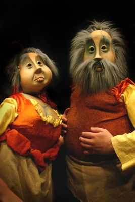 Kristen Phillips Gray – Inn Keeper and his Wife, life size puppets for Man of La Mancha