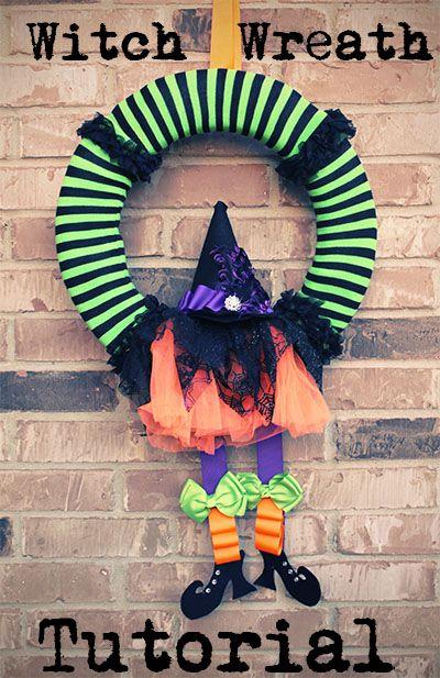 DIY Halloween Witch Wreath