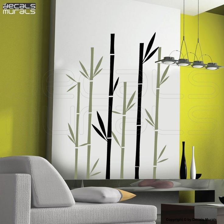 Wall decals geometric bamboo vinyl art stickers interior decor by decals murals decoracion - Decoracion mural ...