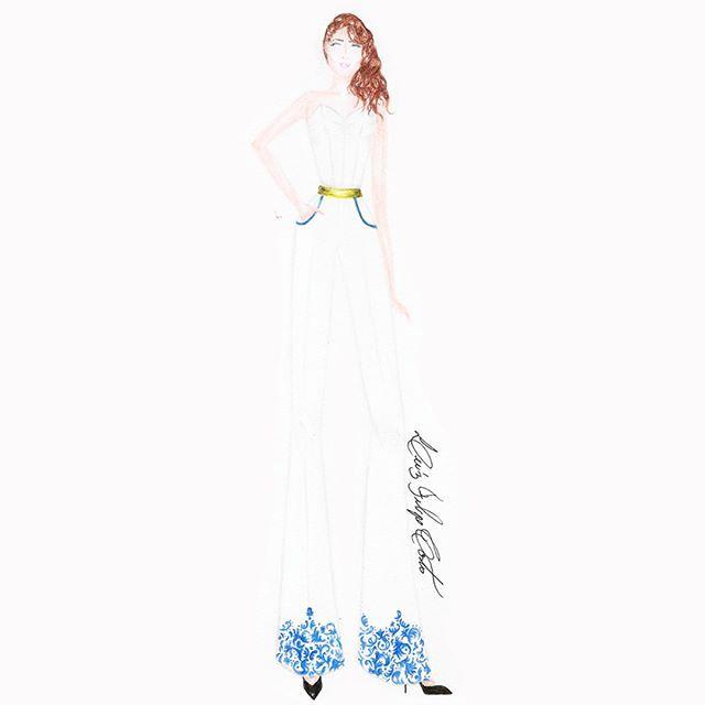 3° #croquis #fashionillustration #fashion #houtecouture #instafashion #illustration