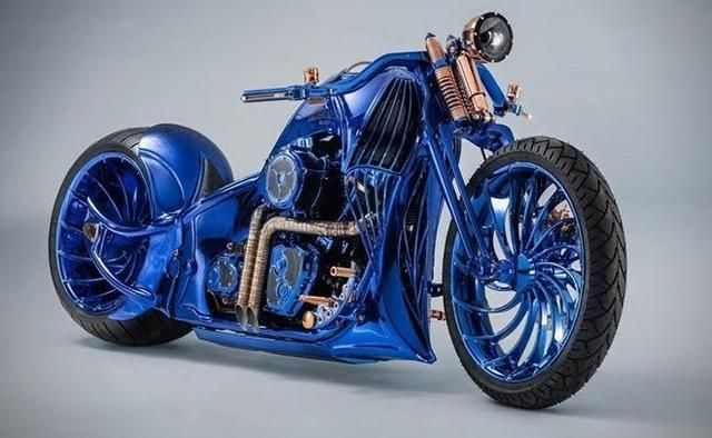 The World S Most Expensive Bike With Gold Diamonds And See Through Engine Classic Harley Davidson