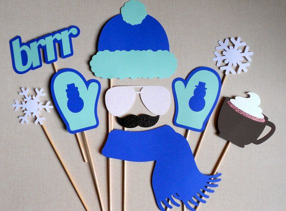 Winter Photo Booth Props. Winter Photo Booth. by ThePropMarket, $22.00