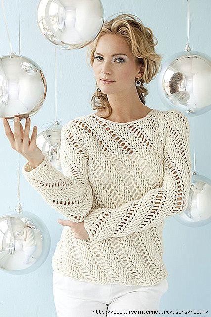 Un altro maglione lavorato con un punto diverso all'uncinetto con trafori in diagonale. fonte:http://www.microsofttranslator.com/bv.aspx?from=&t