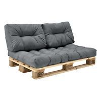 [en.casa] 1x Seat pad Pallet cushions In/Outdoor Pallets Cushion Sofa Padding