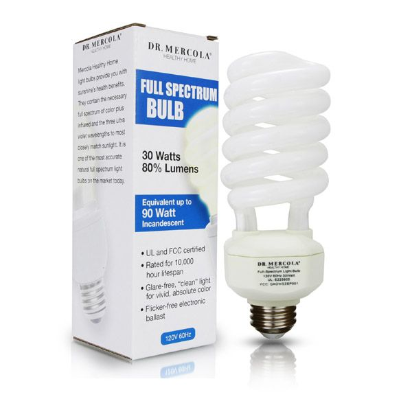 Way Healthier Compact Fluorescent Full Spectrum Light Bulbs - One of the best ways to compensate for the lack of sunshine is through the use of full. http://products.mercola.com/light-bulbs/