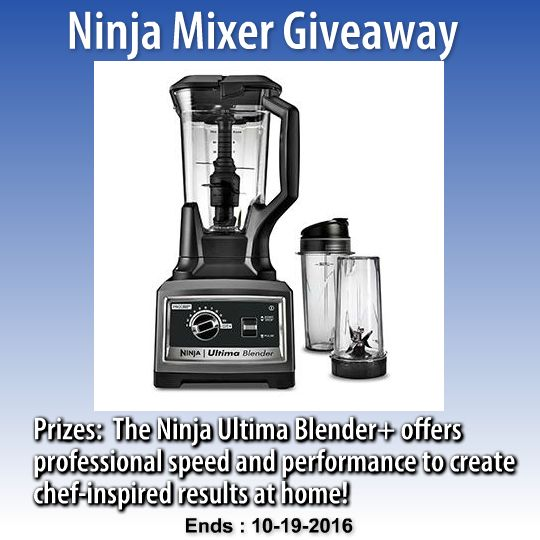 Ends 10/19. Win a Ninja Blender from Sweepstakes Advantage. #GIVEAWAY #SWEEPS #WIN