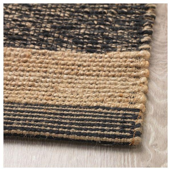 ugilt tapis tisse a plat noir beige