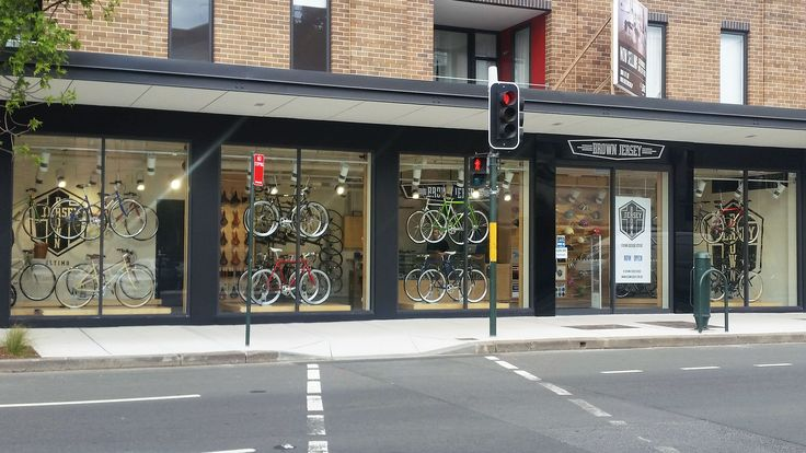 Brown Jersey Bike Shop in Ultimo, designed by Forward Thinking Design