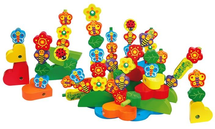 Stack a garden! Such a fun and versatile toy for many years.#EntropyWishList #PinToWin Fun Factory - Build a Garden Wooden Stacking Toy