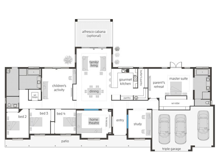 Bronte Executive - Floorplans | McDonald Jones Homes