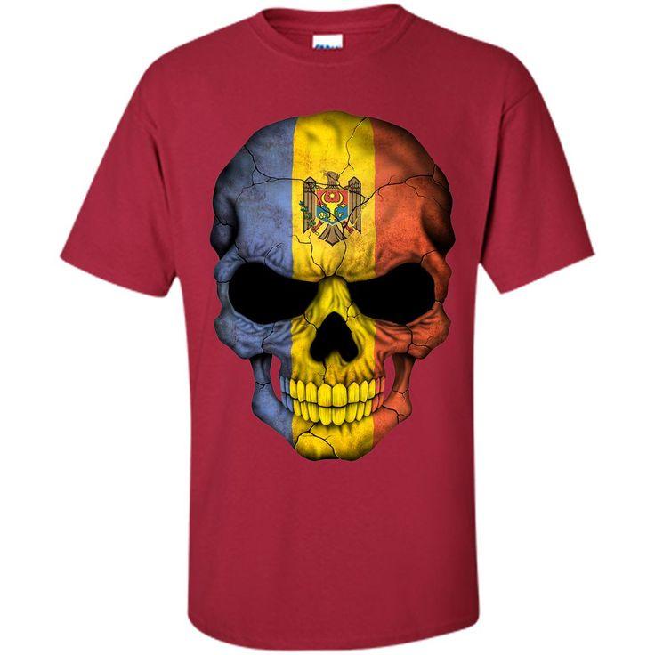 Moldova Flag Skull Moldova T-Shirt