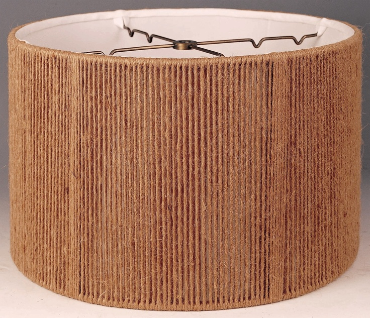 Burlap/twine string for shade. Two 24 inch lamp rings with string, twine, or yarn to make a large drum shade to hang around the chandelier.