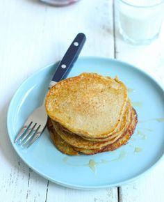 Je hebt maar vier ingredi�nten nodig voor deze lekkere en gezonde pannenkoekjes. Eet ze als ontbijt of als lunch. Serveer de pannenkoekjes bijvoorbeeld met plakjes banaan en honing. Smullen maar!� Dit heb je nodig: Voor ongeveer vijf pannenkoekjes 100 ml�