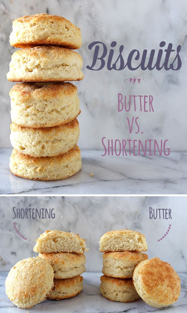 How to Make Biscuits: Butter vs. Shortening is an experiment comparing an all-butter biscuit versus an all-shortening biscuit. Which is the best?