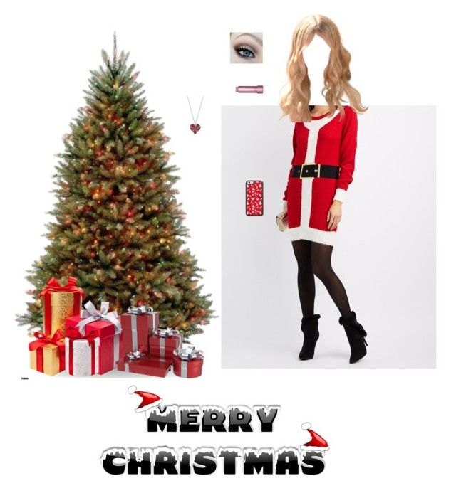 """""""Merry Christmas 🎁🎄!!"""" by nerdbucket ❤ liked on Polyvore featuring Charlotte Russe, Tarina Tarantino and Christmas"""