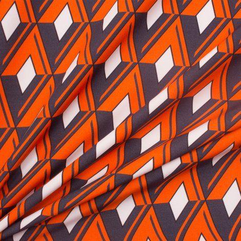 Geometric Printed Silk Satin