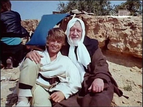 Alec Guinness and Mark Hamill