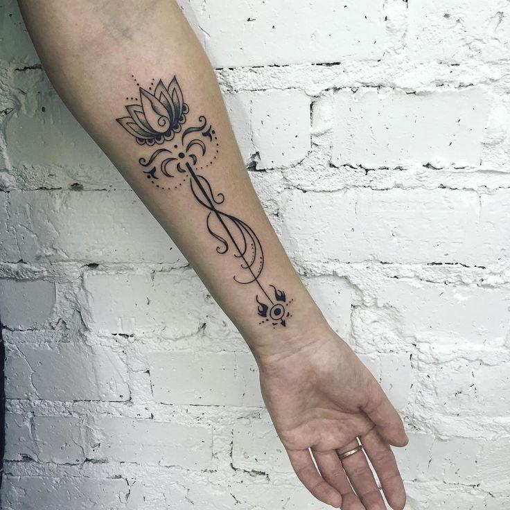 """""""Для Александры по ее собственному эскизу. Спасибо за терпение. #tattoohabit…"""