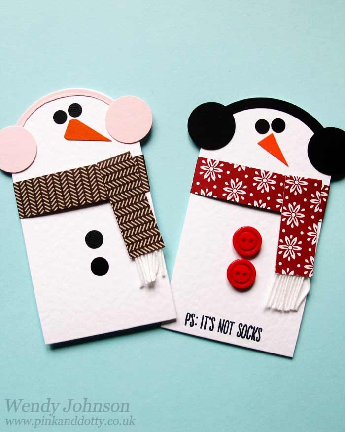 Snowmen Gift Card Holder with tutorial