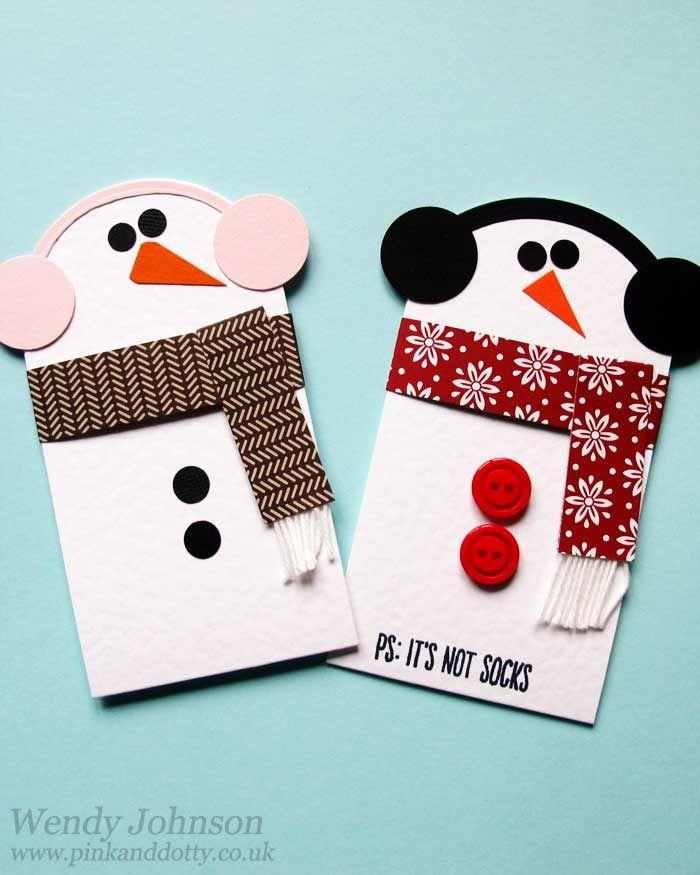 Snowmen Gift Card Holder with tutorial