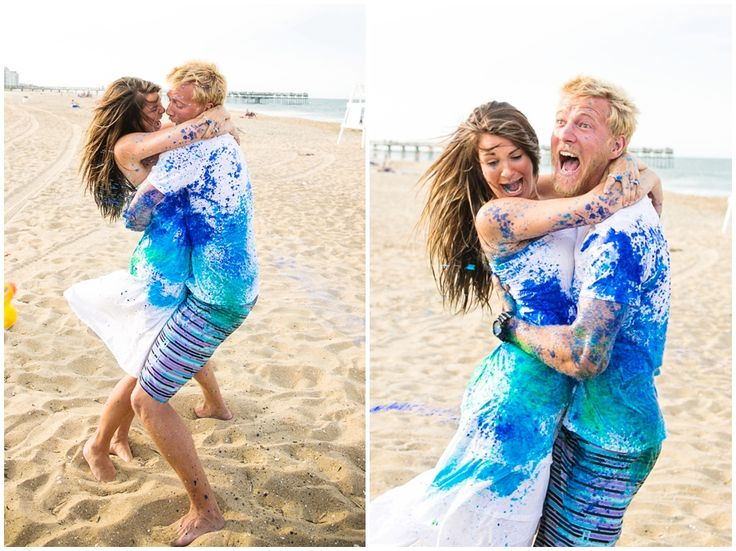 Water Gun Paint Gender Reveal | Macon Photography