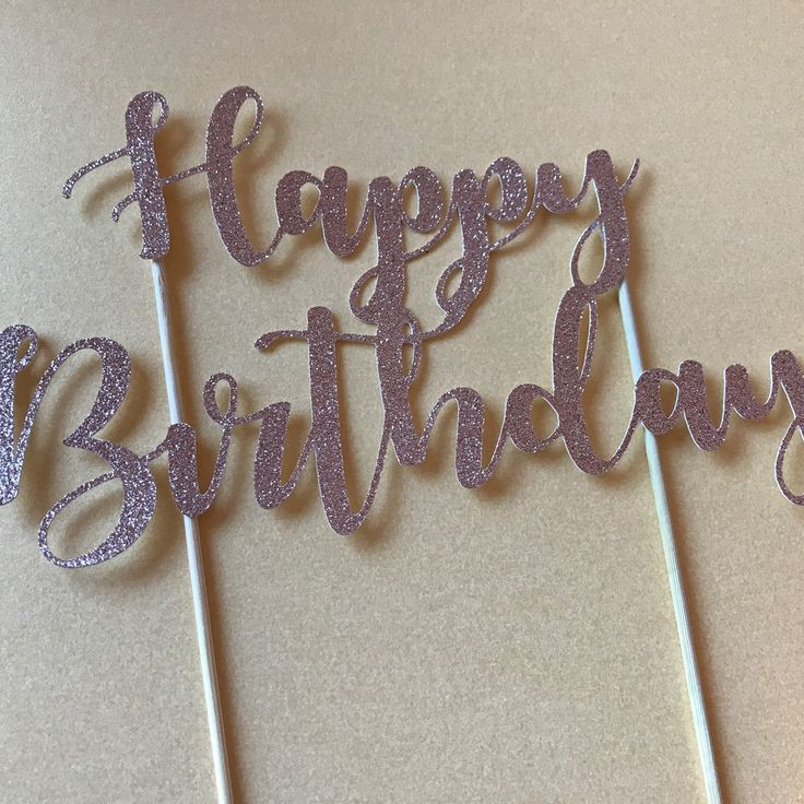 Happy birthday glitter cake toppers now in stock. More designs coming soon!!
