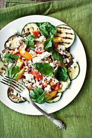 Салат с овощами-гриль и брынзой | Диетические низкокалорийные рецепты - блюда правильного питания на Dietplan.ru